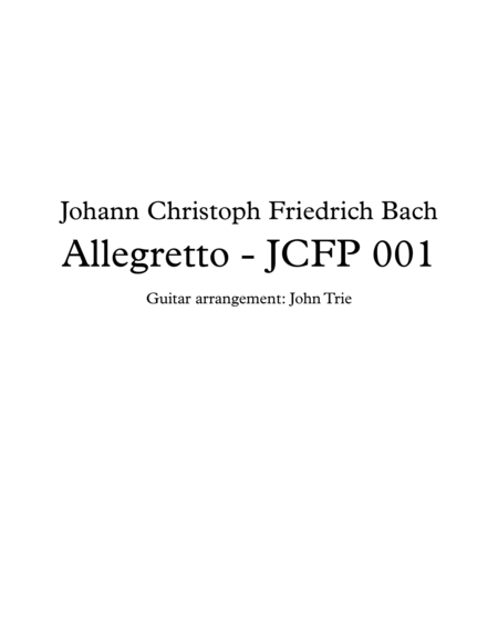 Allegretto - JCFP 001 - tab