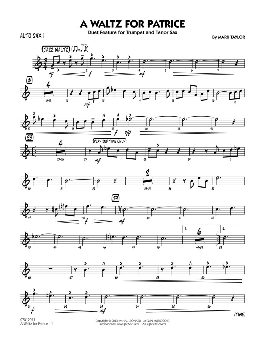 A Waltz for Patrice - Alto Sax 1