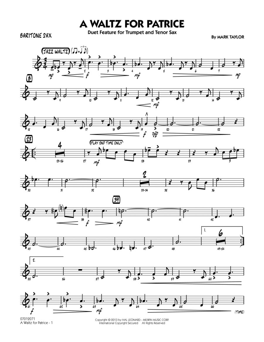 A Waltz for Patrice - Baritone Sax