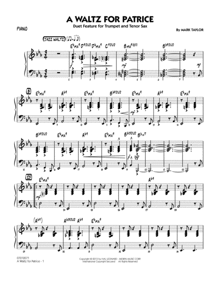 A Waltz for Patrice - Piano
