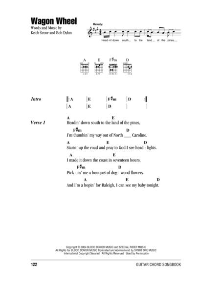 Violin wagon wheel violin tabs : Wagon Wheel Violin Sheet Music Free - wagon wheel chords by old ...