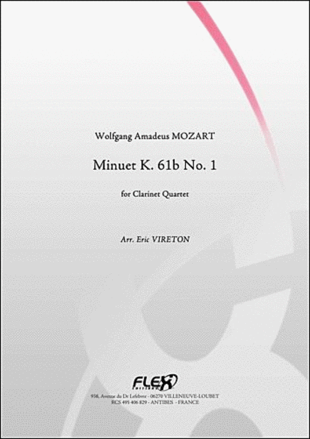 Minuet K. 61B No. 1 - Clarinet Quartet