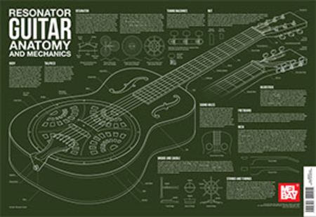 Resonator Guitar Anatomy and Mechanics Wall Chart