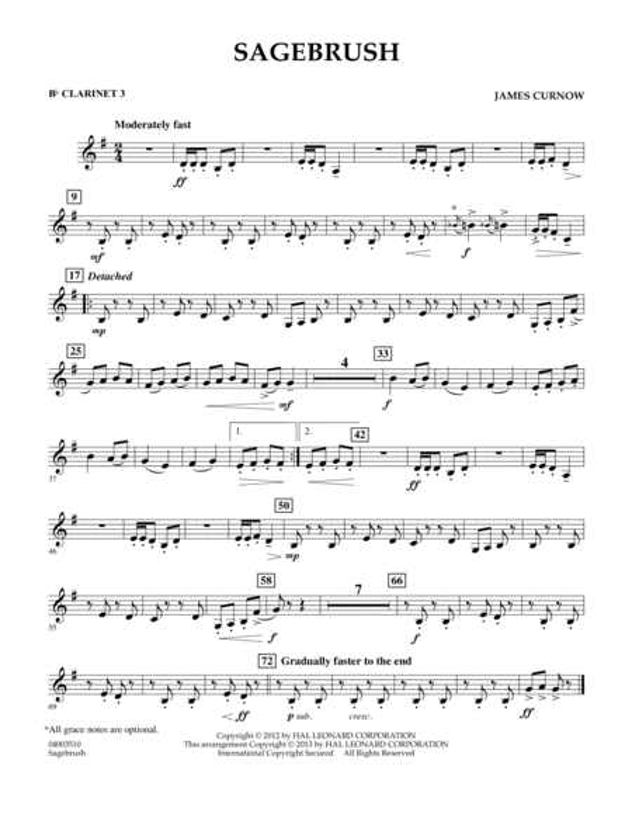 Sagebrush - Bb Clarinet 3
