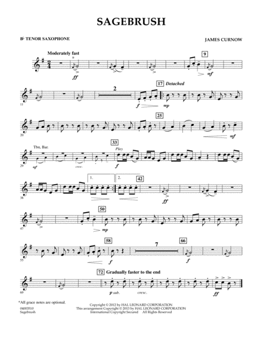 Sagebrush - Bb Tenor Saxophone