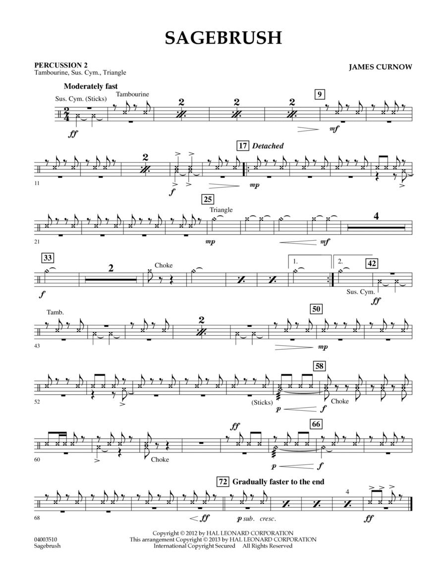 Sagebrush - Percussion 2