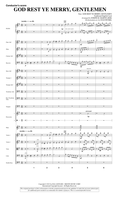 God Rest Ye Merry, Gentlemen (from A Symphony Of Carols) - Score