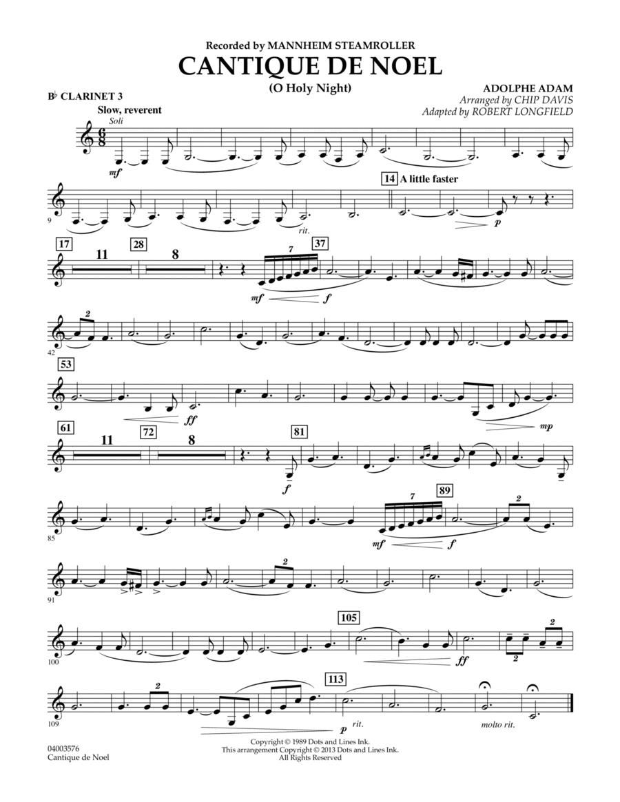 Cantique de Noel (O Holy Night) - Bb Clarinet 3