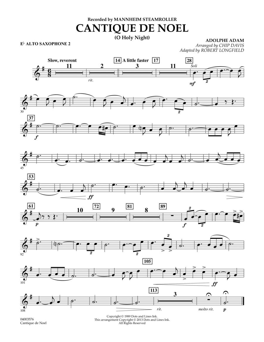Cantique de Noel (O Holy Night) - Eb Alto Saxophone 2