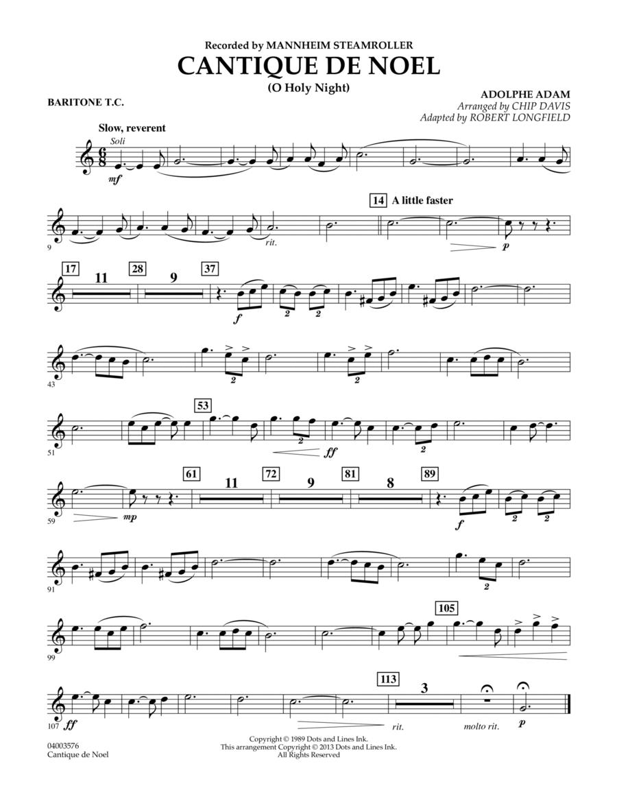 Cantique de Noel (O Holy Night) - Baritone T.C.