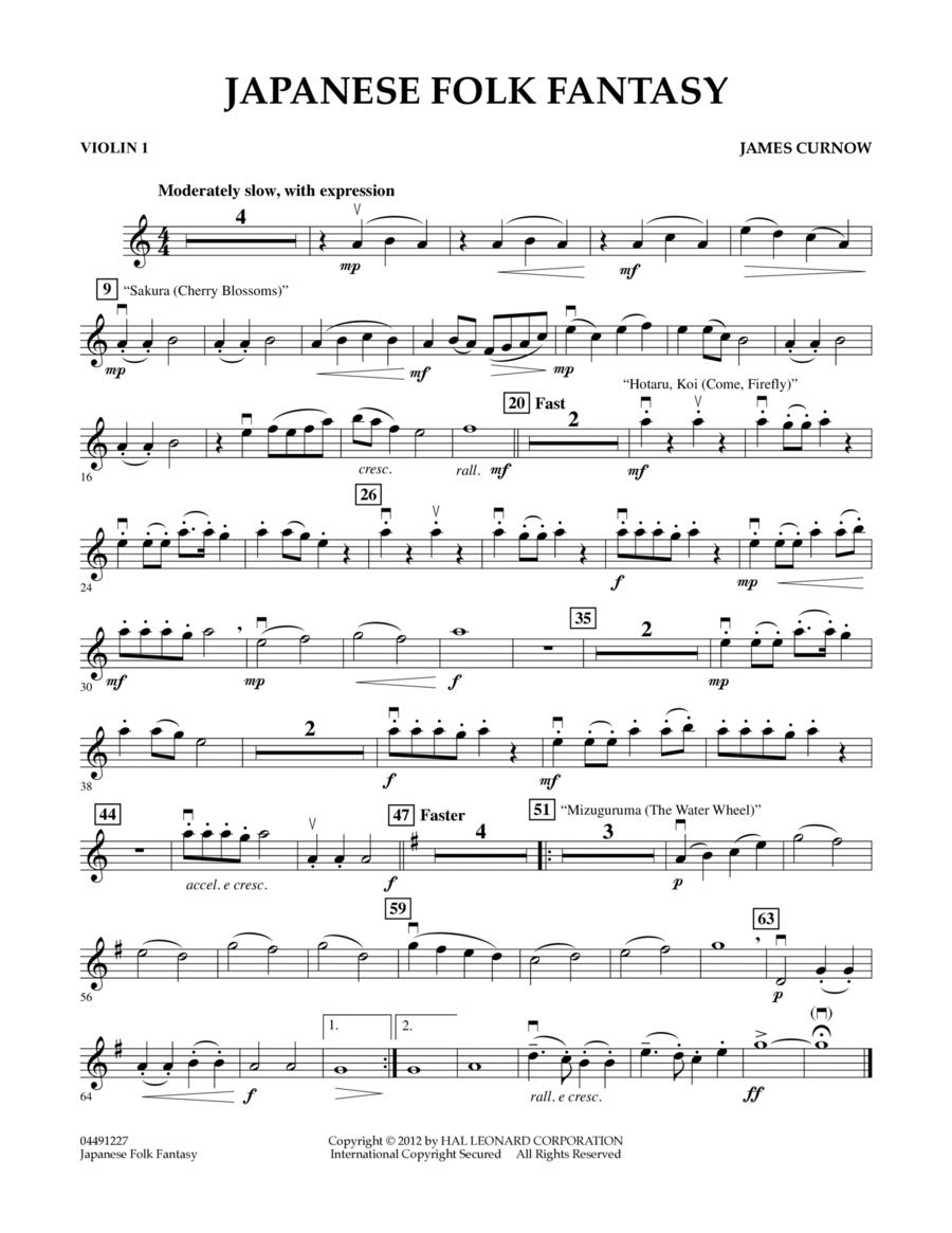 Japanese Folk Fantasy - Violin 1