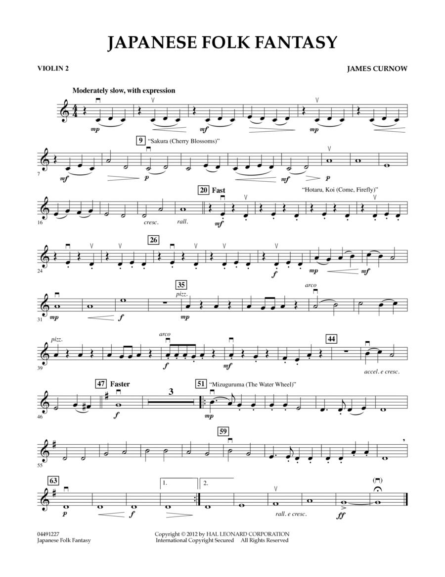 Japanese Folk Fantasy - Violin 2