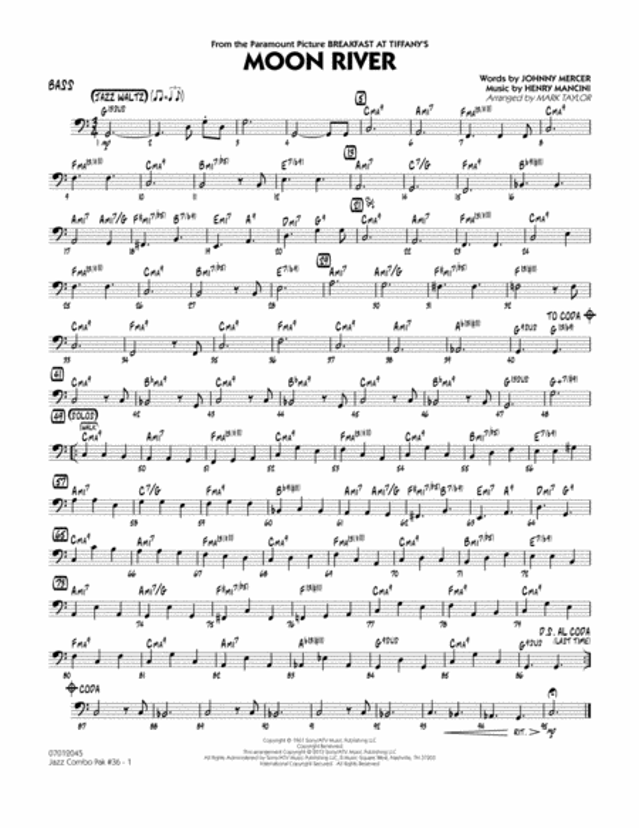 Jazz Combo Pak #36 (Henry Mancini) - Bass
