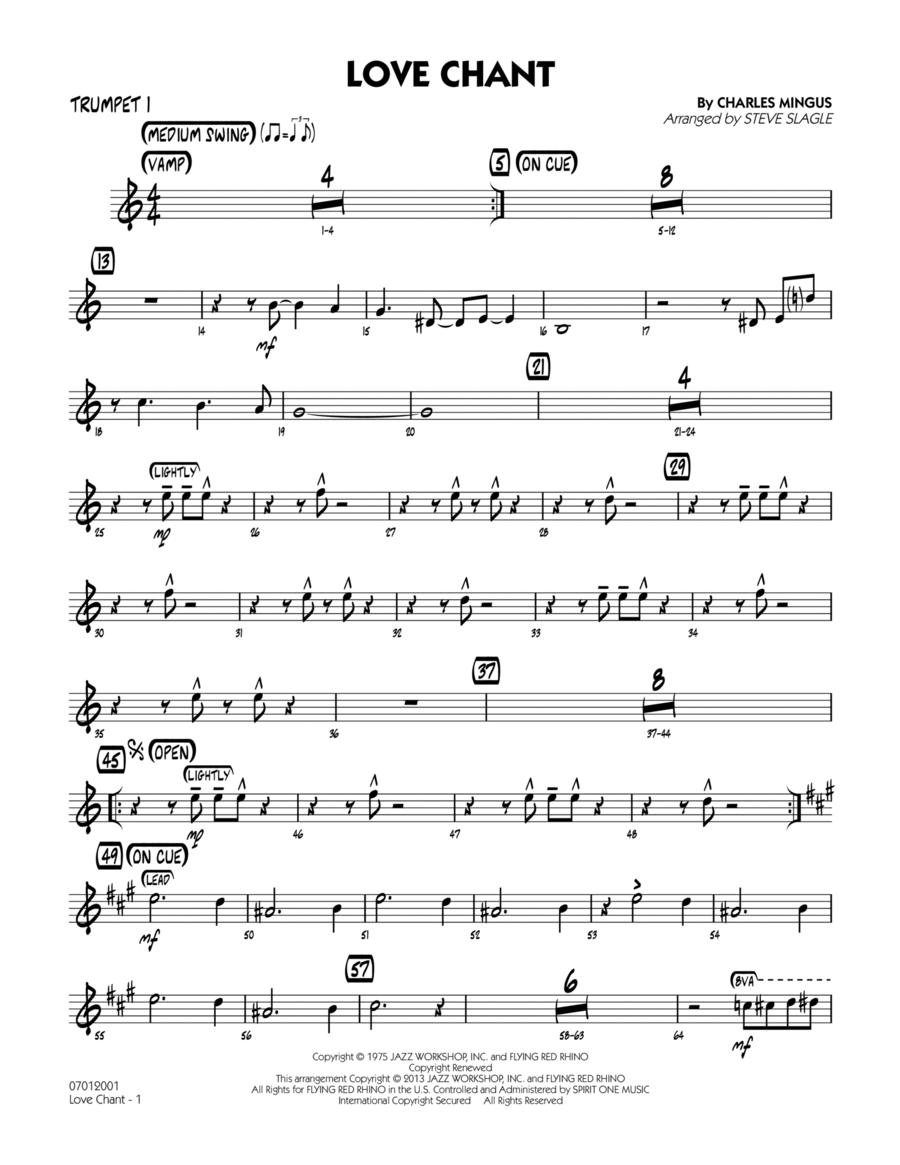 Love Chant - Trumpet 1
