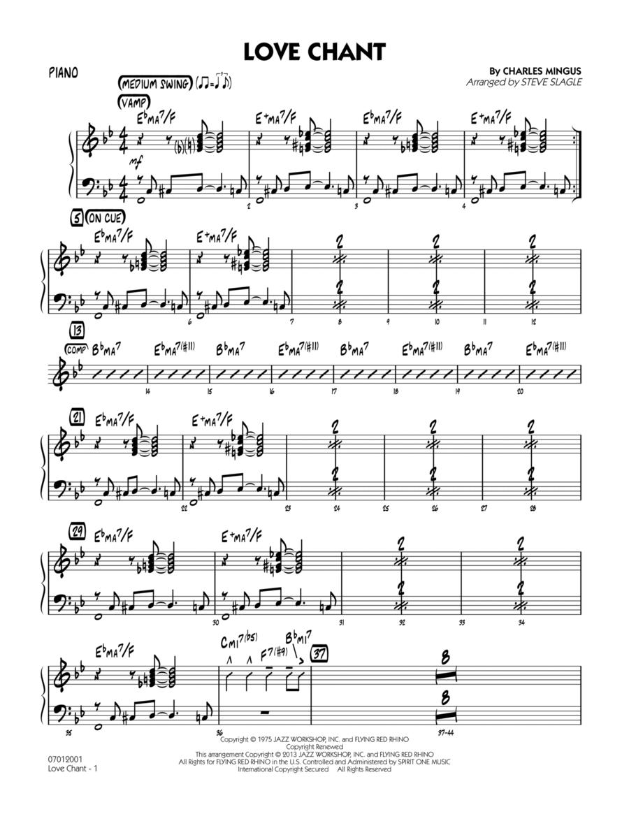 Love Chant - Piano