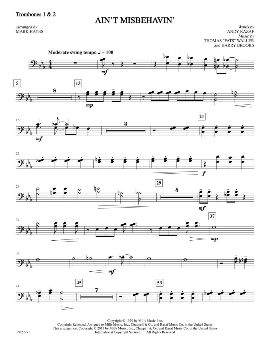Ain't Misbehavin' - Trombone 1 & 2