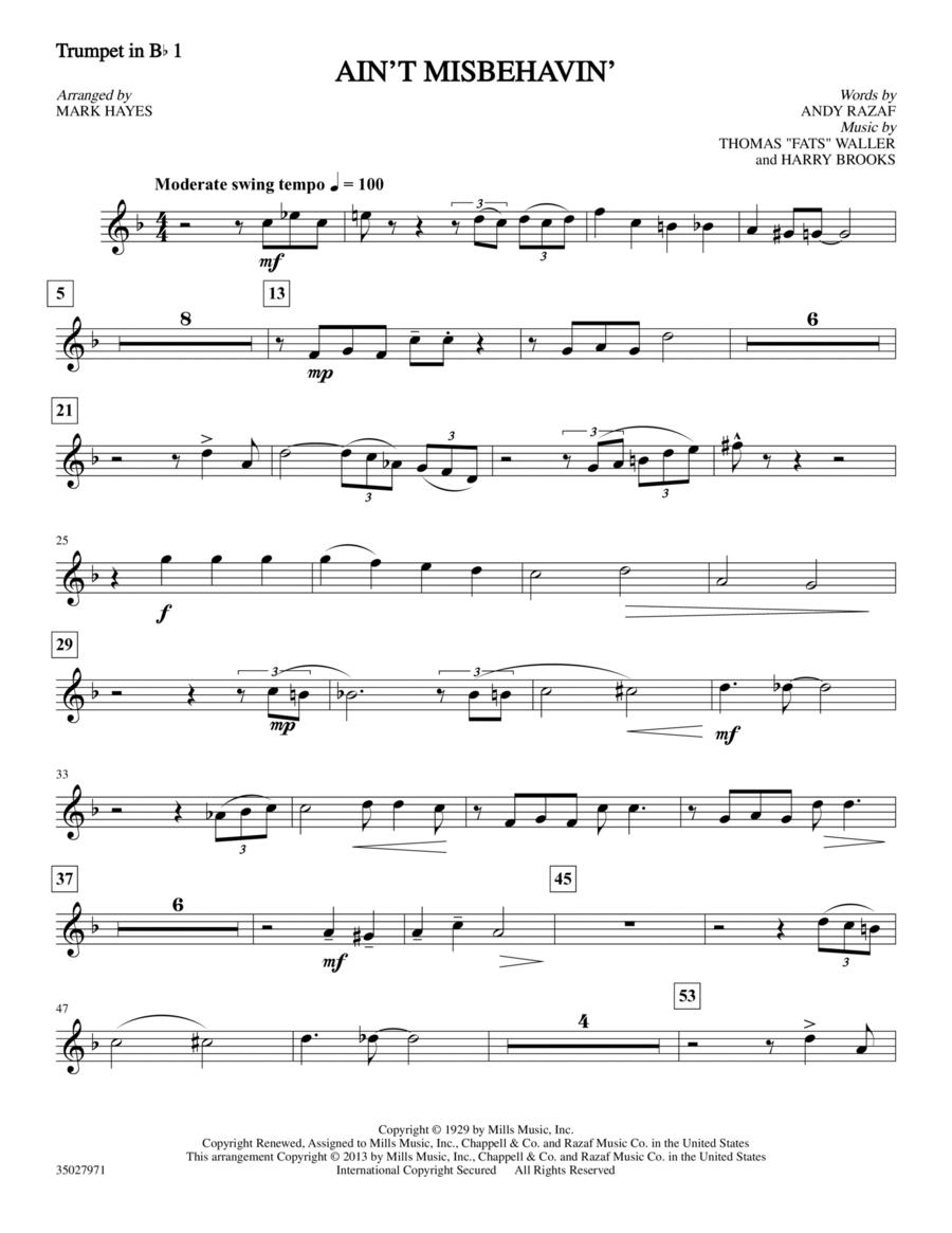 Ain't Misbehavin' - Trumpet 1 in Bb