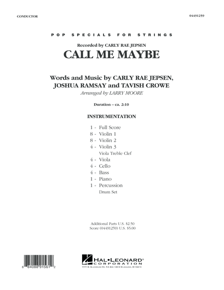 Call Me Maybe - Conductor Score (Full Score)
