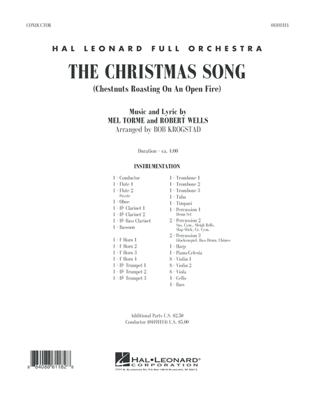 The Christmas Song (Chestnuts Roasting on an Open Fire) - Full Score