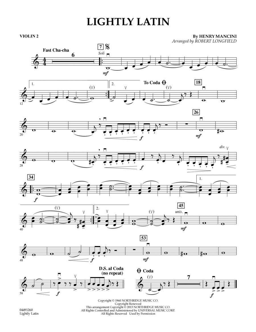 Lightly Latin - Violin 2