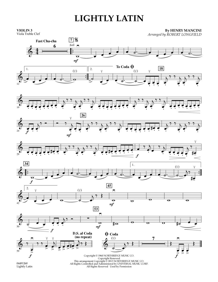 Lightly Latin - Violin 3 (Viola Treble Clef)