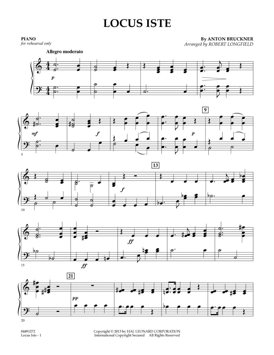 Locus Iste - Piano