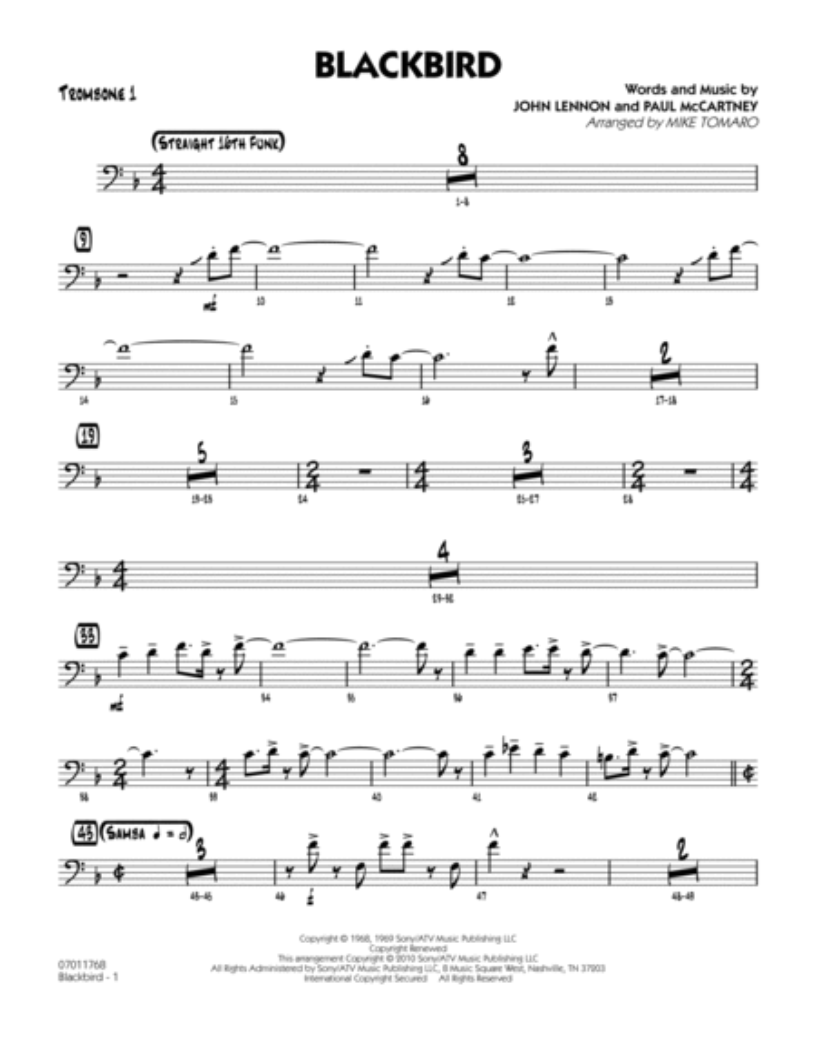 Blackbird - Trombone 1