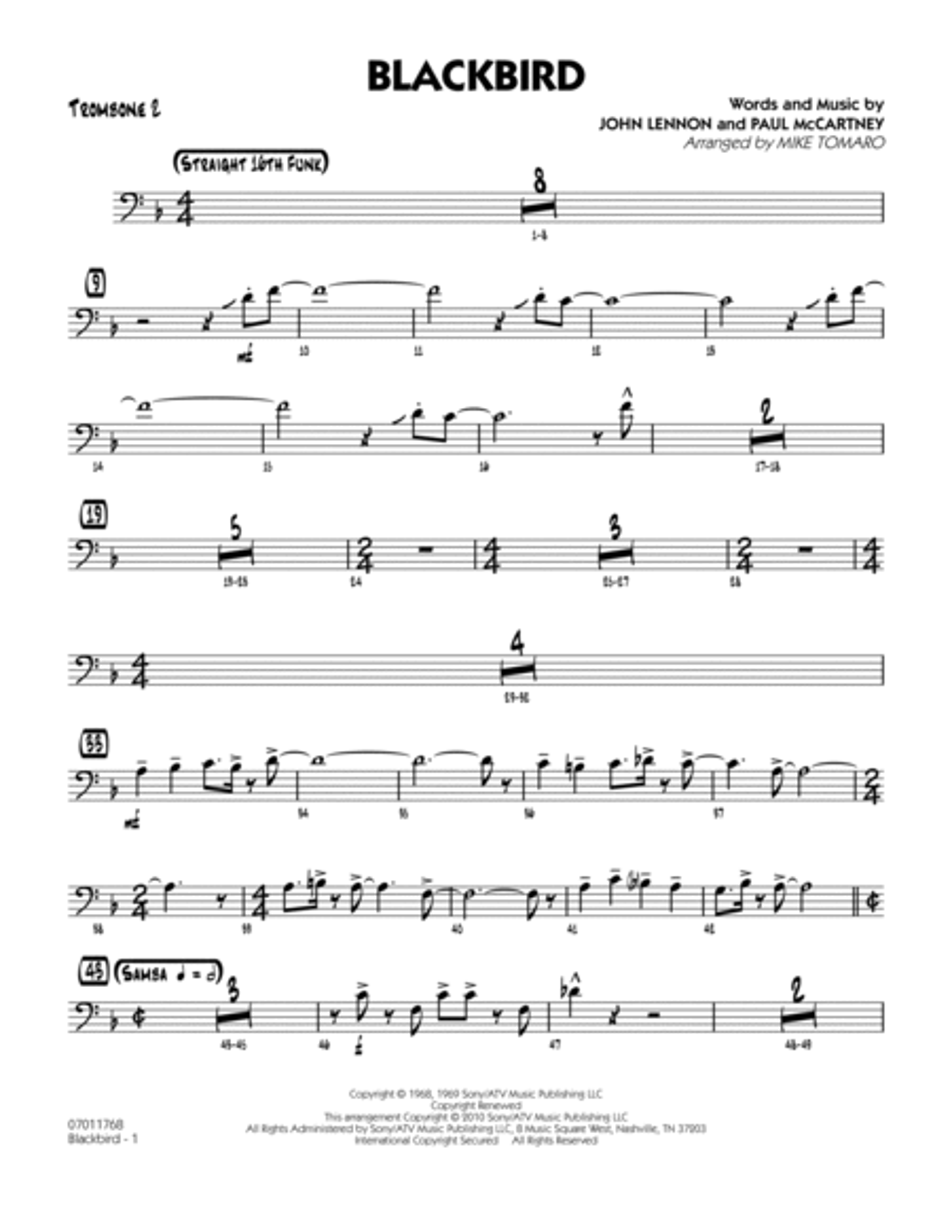 Blackbird - Trombone 2
