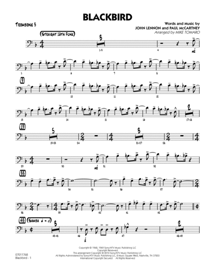 Blackbird - Trombone 3
