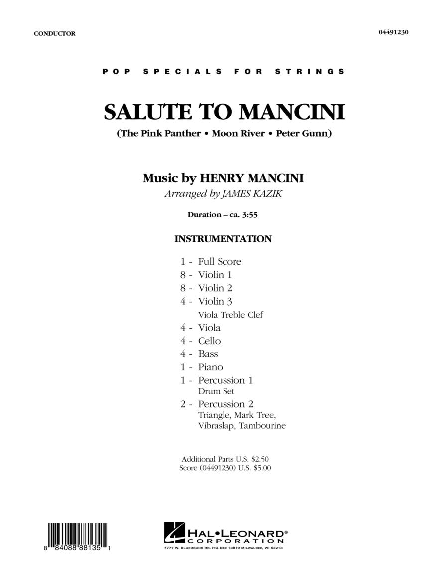 Salute to Mancini - Conductor Score (Full Score)