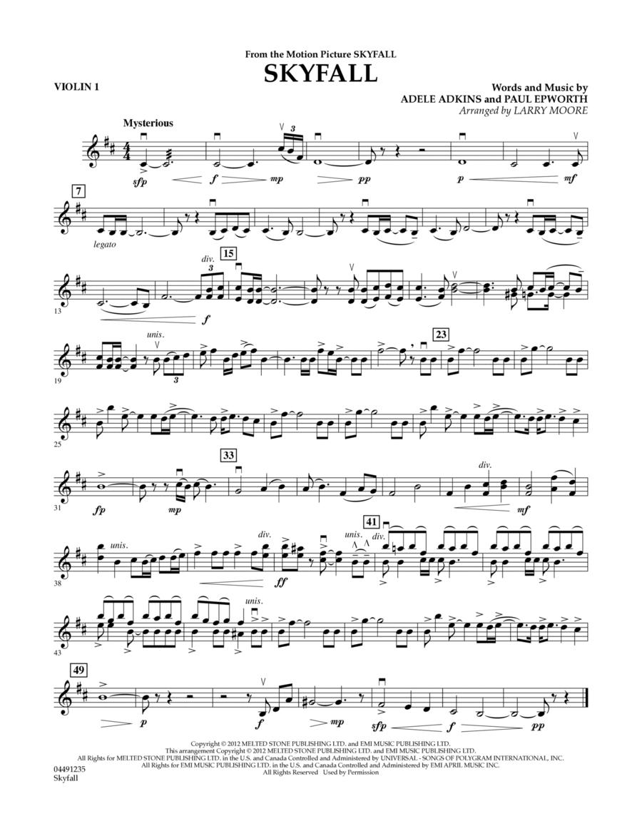 Skyfall - Violin 1
