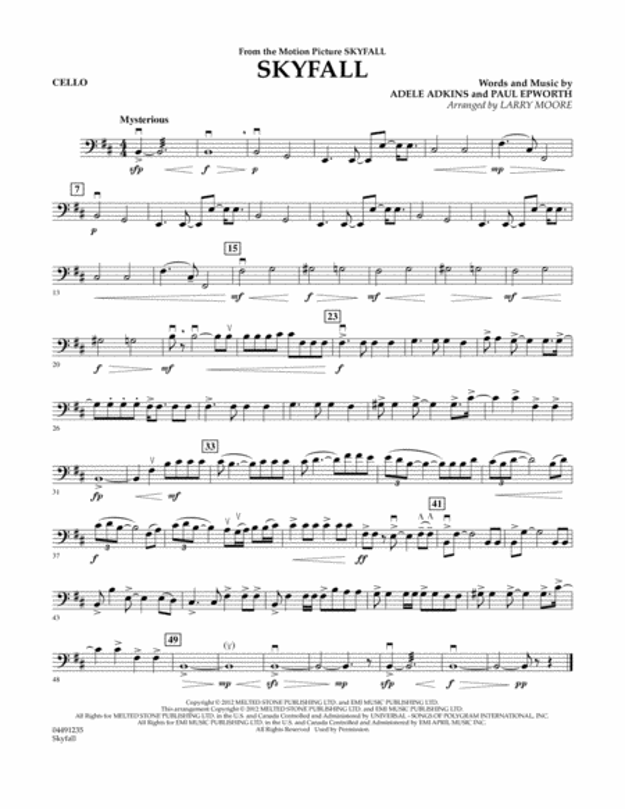 Skyfall - Cello