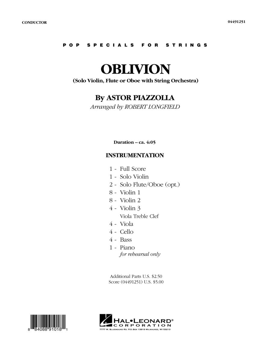 Oblivion - Conductor Score (Full Score)