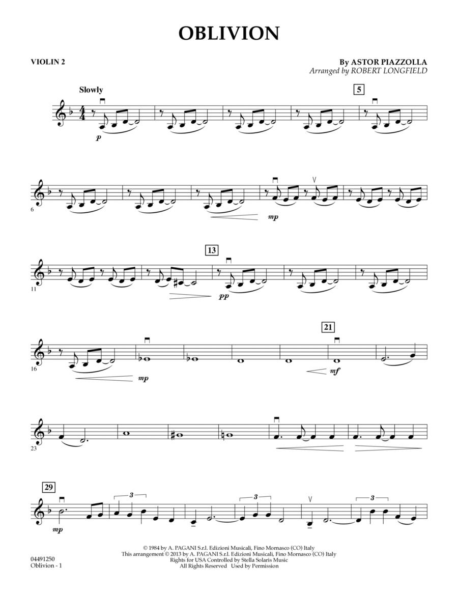 Oblivion - Violin 2
