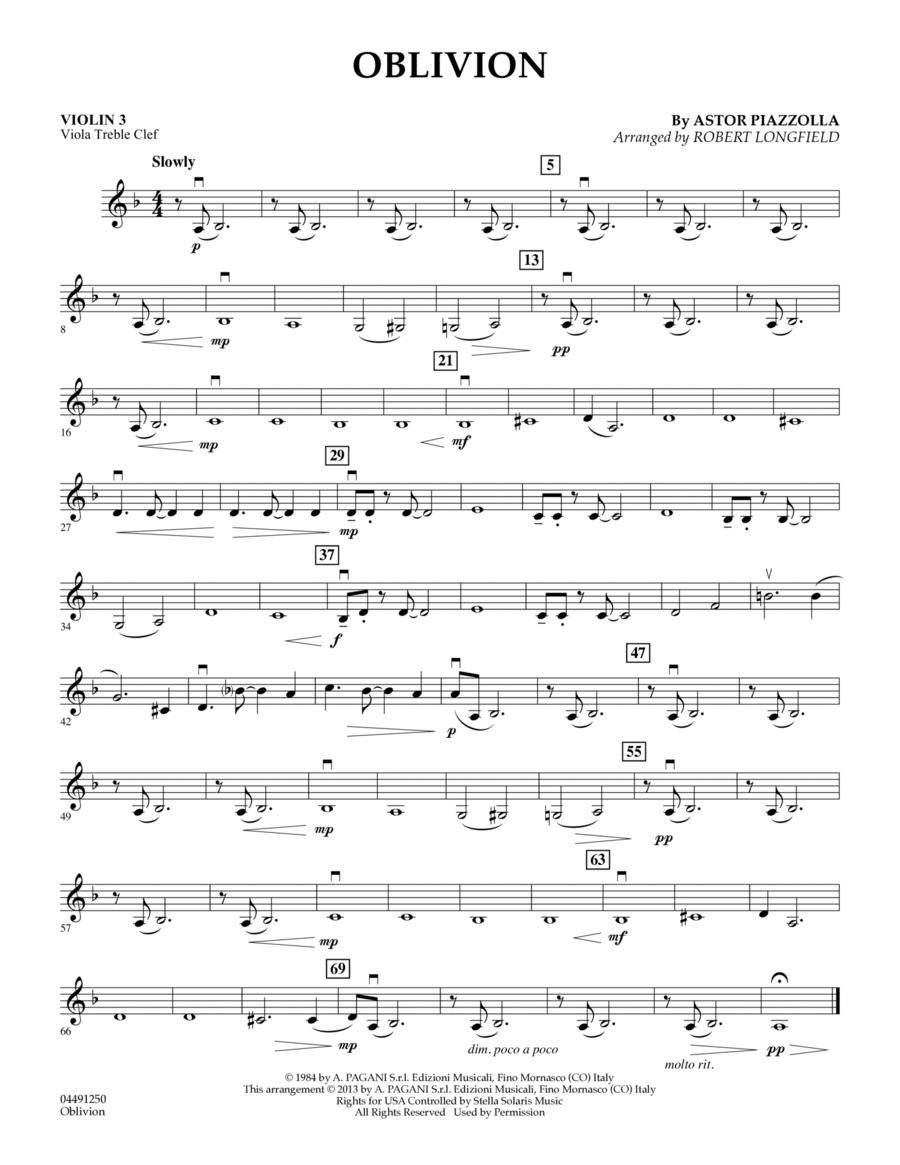 Oblivion - Violin 3 (Viola Treble Clef)