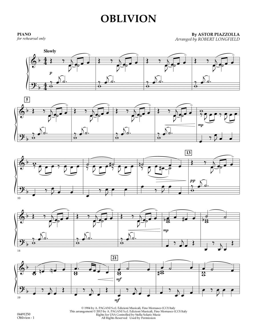 Oblivion - Piano