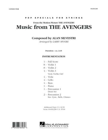 Music from The Avengers - Conductor Score (Full Score)