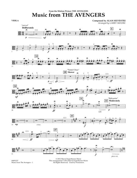 Music from The Avengers - Viola