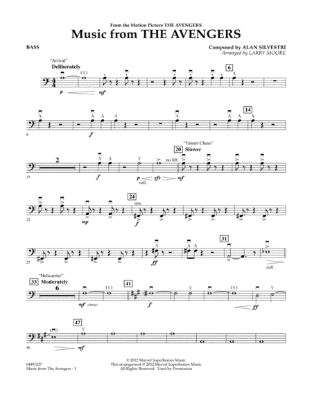 Music from The Avengers - Bass