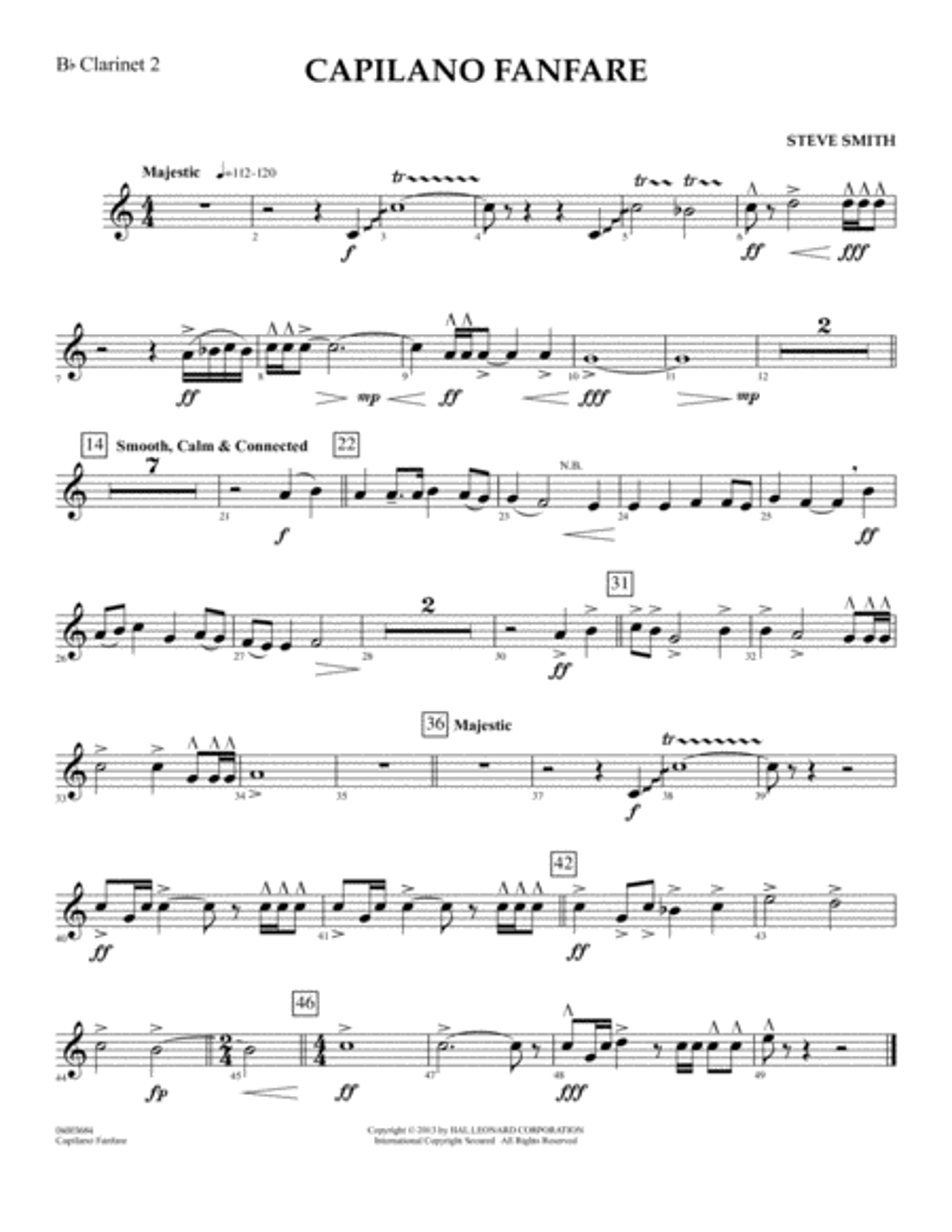 Capilano Fanfare (Digital Only) - Bb Clarinet 2
