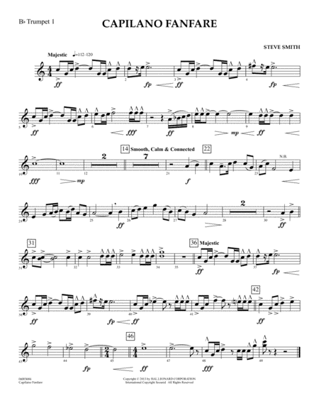 Capilano Fanfare (Digital Only) - Bb Trumpet 1