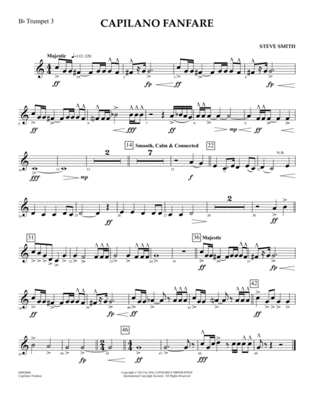Capilano Fanfare (Digital Only) - Bb Trumpet 3