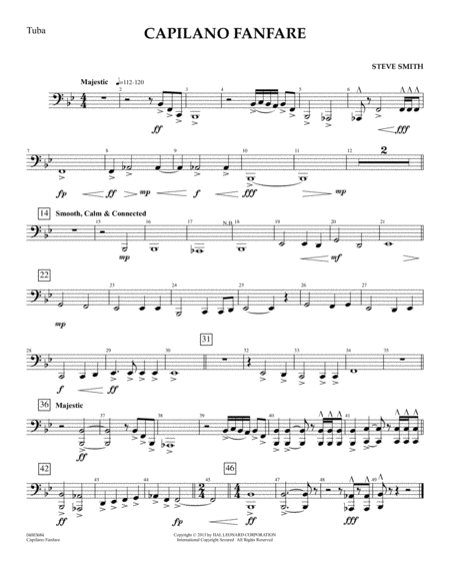 Capilano Fanfare (Digital Only) - Tuba