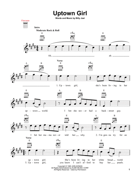 an analysis of the lyrics of billy joels famous song uptown girl Uptown girl is a song written and performed by american musician billy joelit was released on september 29, 1983, on his ninth studio album an innocent man (1983) the lyrics describe a working-class downtown man attempting to woo a wealthy uptown girl.