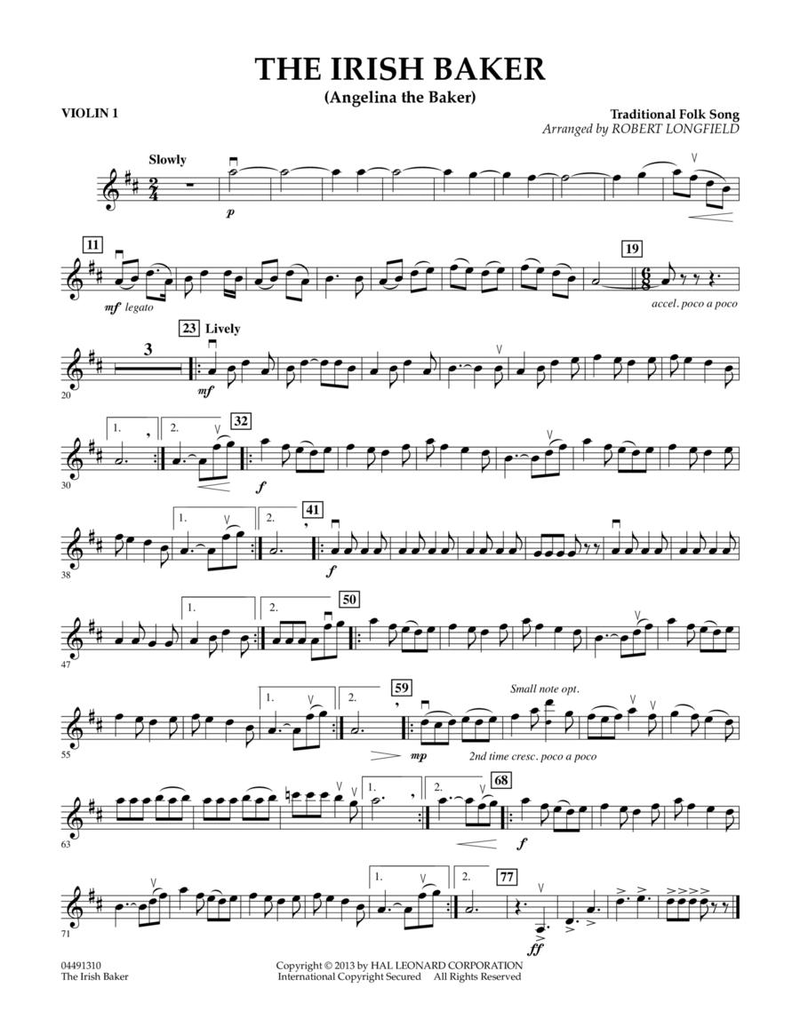 The Irish Baker (Angelina the Baker) - Violin 1