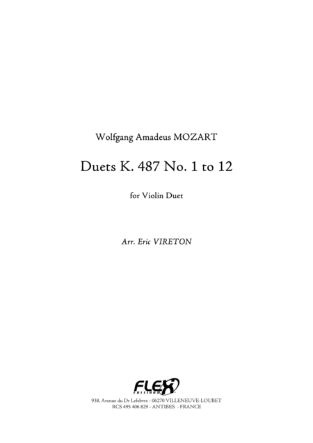 Duet K 487 No. 1 to 12