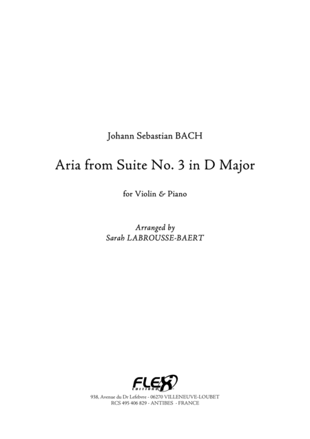 Aria from Suite No. 3 in D Major