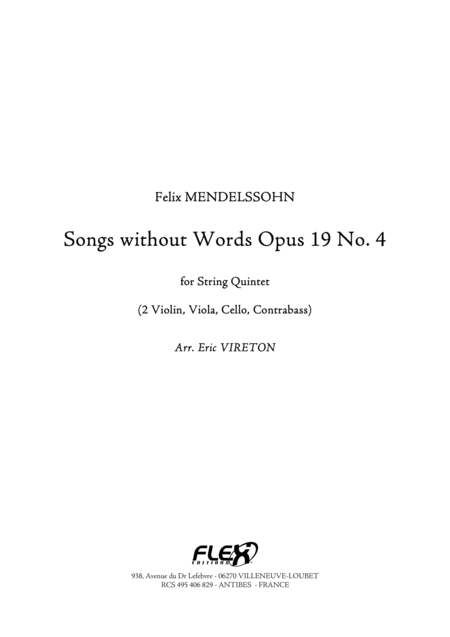 Songs without Words, Op. 19, No. 4