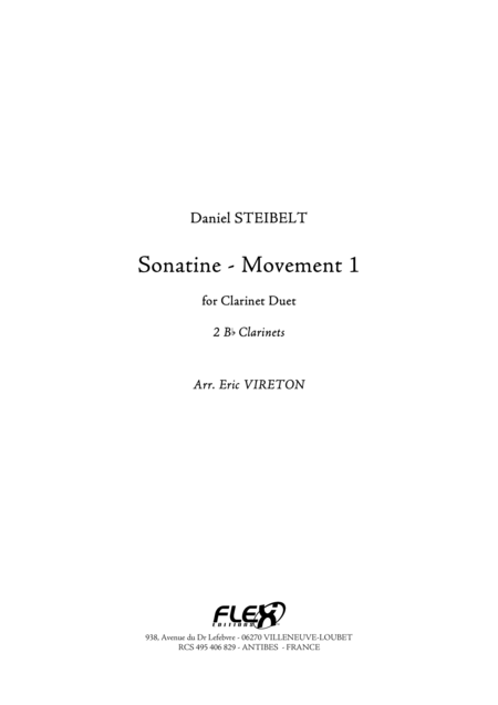 Sonatine - Movement 1