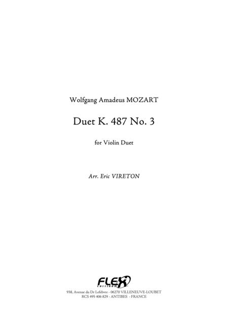 Duet, K 487, No. 3